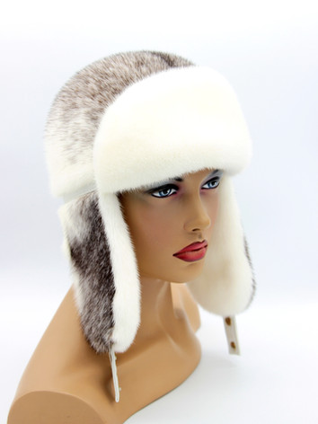 Женская шапка ушанка меховая