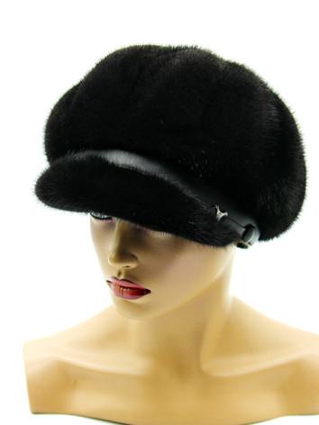 Норковая кепка женская