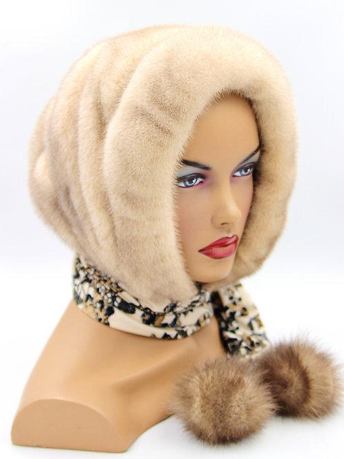 меховой капор шарф