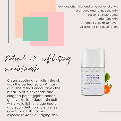 Retinol exfoliating scrub