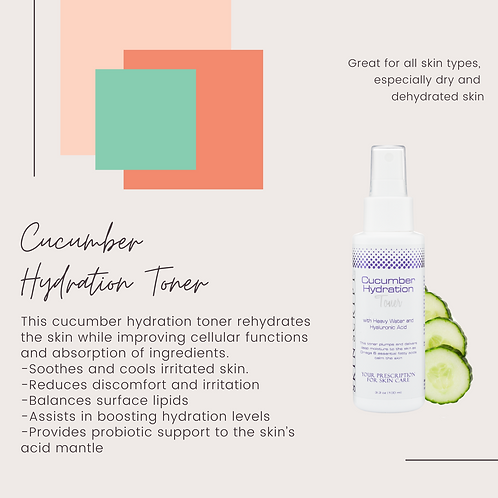 Cucumber hydration toner