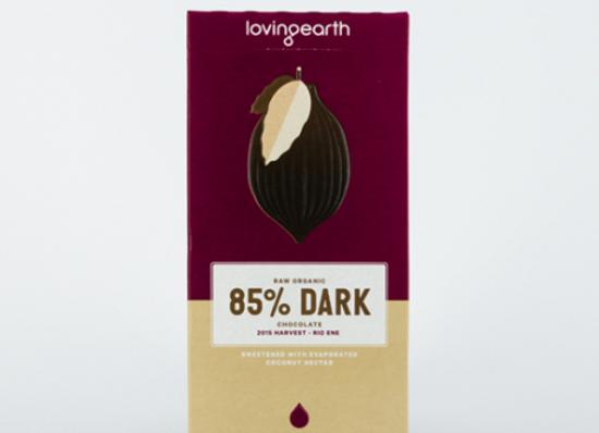 Loving Earth Organic 85% Dark Chocolate