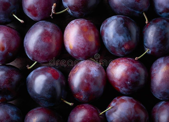 Certified Organic Blood Plums