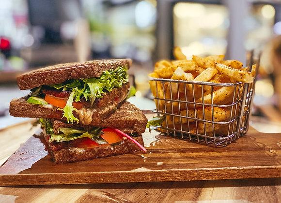 Grilled Vegan 'Stake' Sandwich