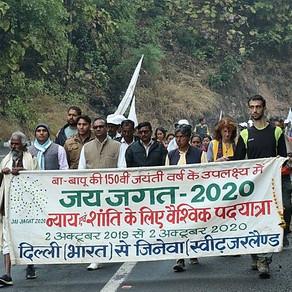 Delhi-Genève : la marche  Jai Jagat 2020 et son lien avec la Caravane
