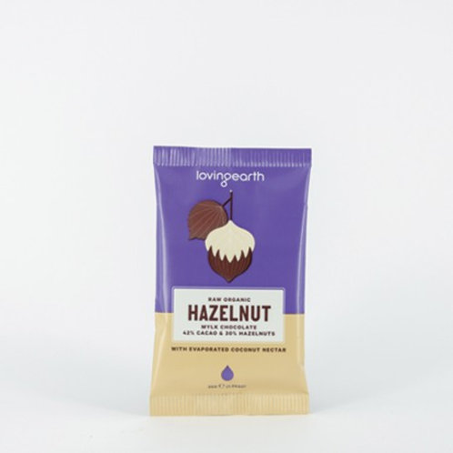 Loving Earth Organic Hazelnut Chocolate 30g