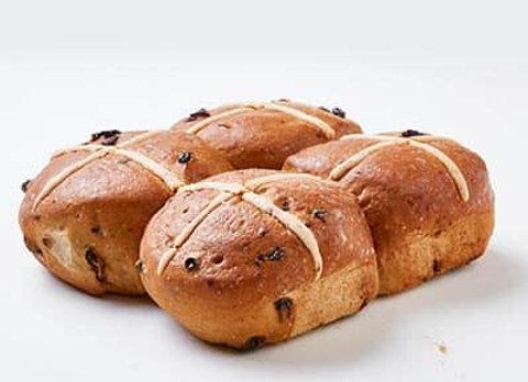 Well & Good Gluten Free Hot Cross Buns 4 Pack
