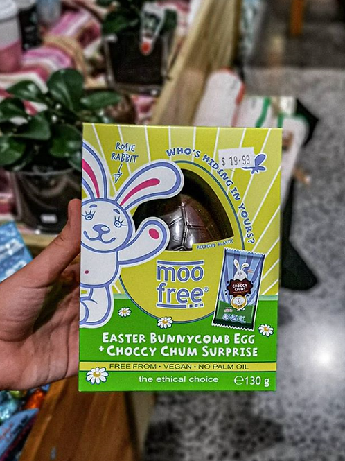 Moo Free Easter Bunnycomb Egg + Choccy Chum Surprise