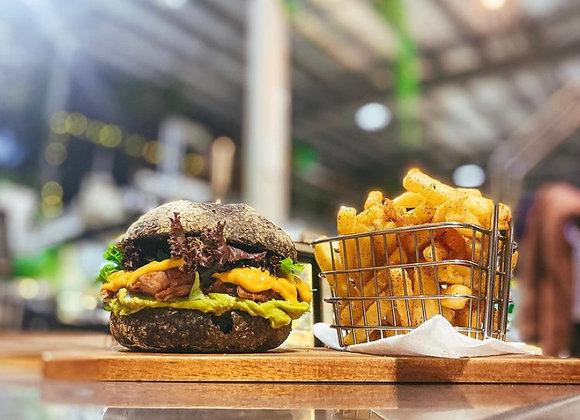 Jackfruit Nacho Burger (GFO)