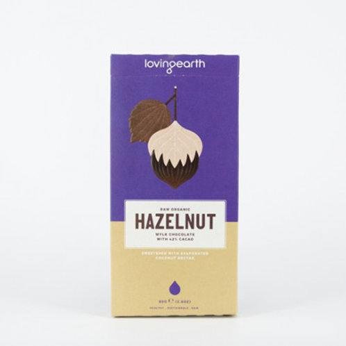 Loving Earth Organic Hazelnut Chocolate