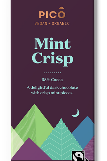 Pico Vegan & Organic Mint Crisp Chocolate