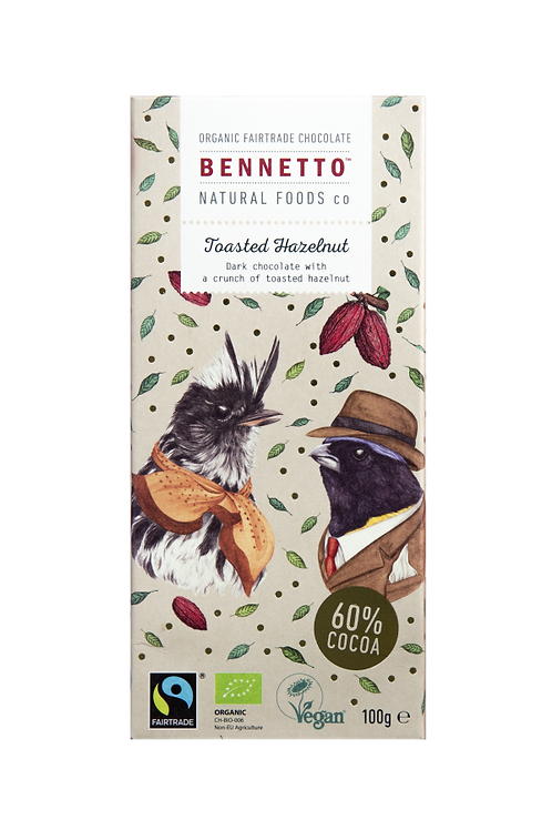 Benneto Natural Foods co Toasted Hazelnut Chocolate