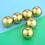 Thumbnail: 6 Pcs/Lot Two Layer Gold Color  Golf Balls Practice Balls  Diameter 42.67mm