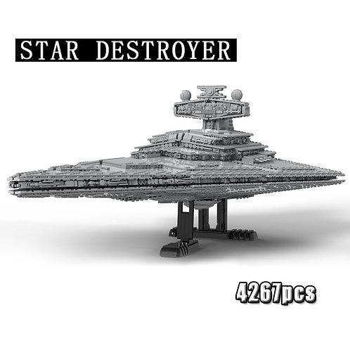 Building Blocks Star Wars Star Destroyer Ship Model  Moc Building Blocks