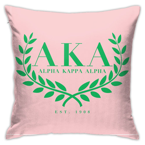 Alpha Kappa Alpha AKA Pillow Case Cushio Pillow Case 45 * 45cm Decorative