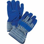 Split Cowhide Leather Palm Gloves,Large