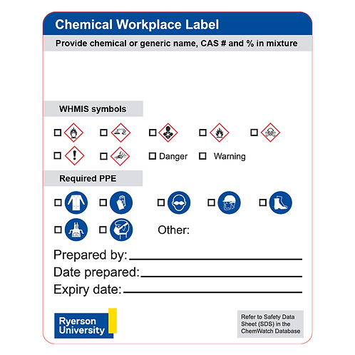 Custom Chemical Labels 17.8 cm x 10.2 cm