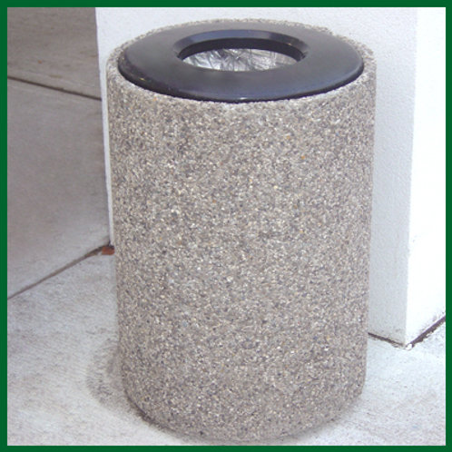 """22"""" Round Concrete Garbage Container with Lid"""