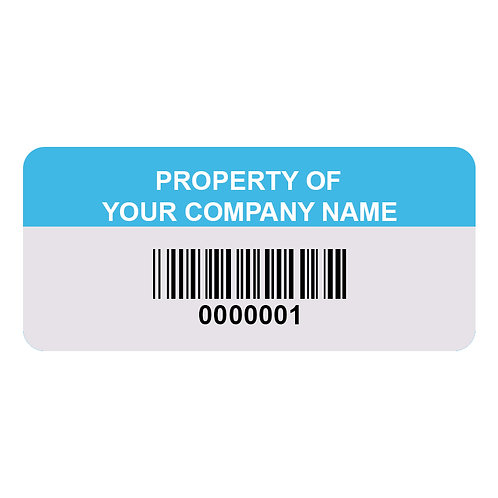 Anodized Aluminum Asset Tags - Pack of 100