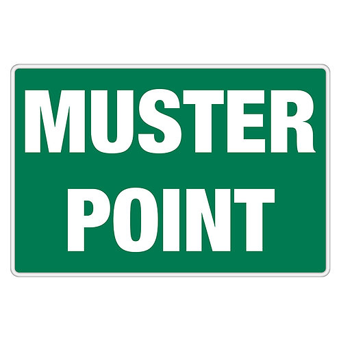 """Muster Point Sign 12"""" x 18"""" Aluminum   Wholesale Safety Labels"""