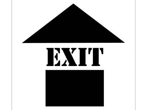 Floor Stencils - Exit (with Arrow Graphic)