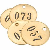 Numbered Brass Valve Tags | Wholesale Safety Labels