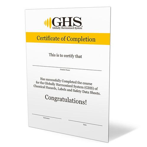 GHS Certificates