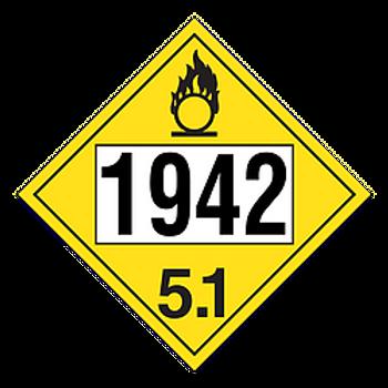 Ammonium Nitrite 1942 Placards   Wholesale Safety Labels