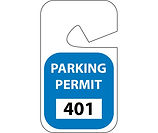 Parking Permit Hanging Tags