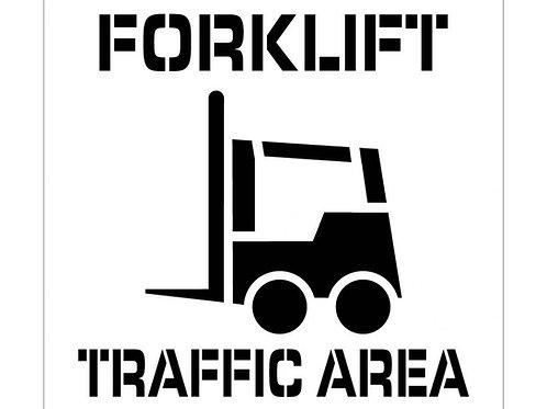Floor Stencils - Forklift Traffic Area