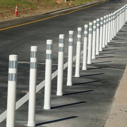 Pexco City Post Flexible Guide Posts with Base | Wholesale Safety Labels