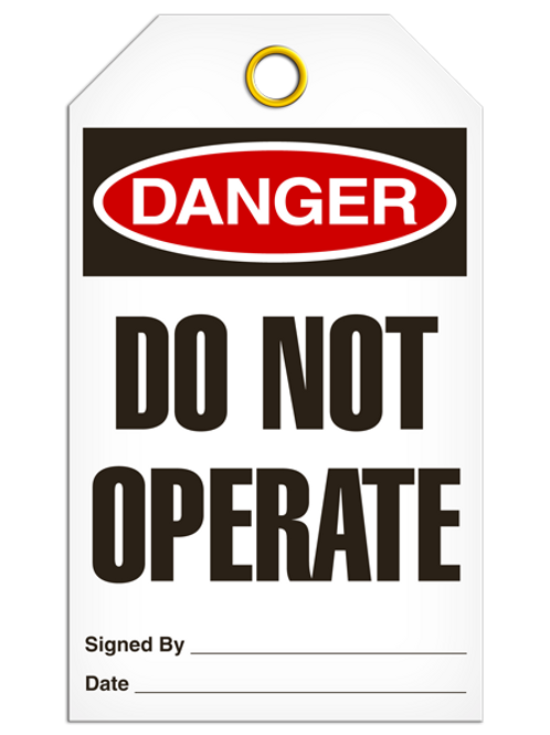 Danger Tag - Do Not Operate