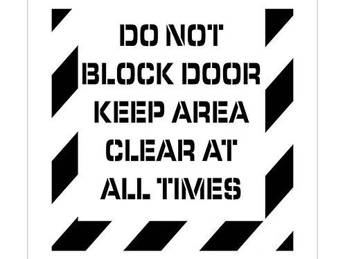 Floor Stencils - Do Not Block Door