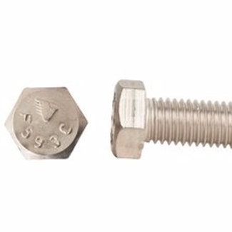 "3/8""-16 x 1-1/4"" Grade 8 Yellow Zinc Finish Hex Cap Screw 100/Box"