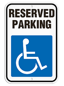 """Parking Signs - Reserved Parking 12"""" x 18"""""""