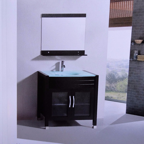Medium Size Bathroom Cabinet and Mirror:  Solid Wood