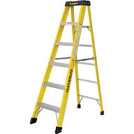 Featherlite Industrial Heavy-Duty Fibreglass Stepladders (6900 Series)  | Wholesale Safety Labels