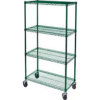 Green Epoxy Wire Shelf Carts | Wholesale Safety Labels