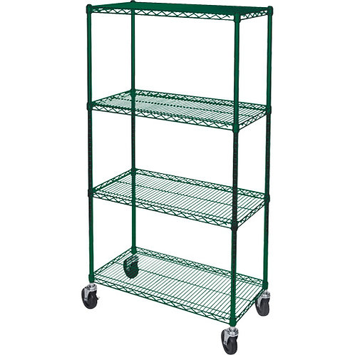 Utility Carts - Green Epoxy Wire Shelf - 6 Sizes