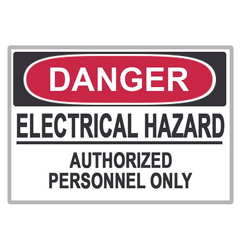 Danger Label Electrical Hazard