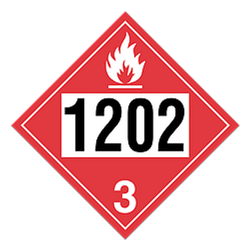 Diesel Fuel, Fuel Oil 1202 Placards 100 / Case | Wholesale Safety Labels