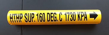 Custom Wrap Around Pipe Markers | Wholesale Safety Labels |