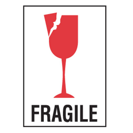 """Shipping Labels - Fragile  4"""" x 6"""" 500/Roll"""