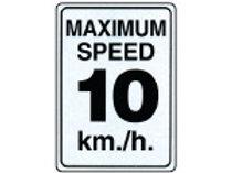 Speed Limit Signs - 10 km./h.