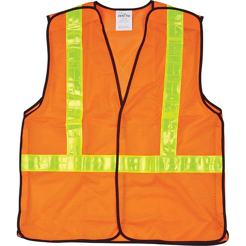 5 Point Tear Away Traffic Safety Vests - Class 2 Level 2