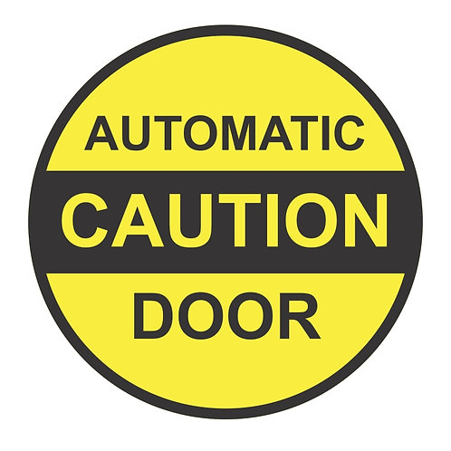 Automatic Door Caution Decals | Wholesale Safety Labels