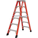 Featherlite Industrial Extra Heavy-Duty Fibreglass 2-Way Stepladders | Wholesale Safety Labels