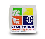 Weatherproof Labels on a Roll    Wholesale Safety Labels