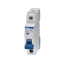 Mini Circuit Breakers by IMO Single Pole C and D type curves current range from 2A to 63A