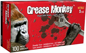 Grease Monkey®5554PF 5 Mil Nitrile Gloves | Wholesale Safety Labels